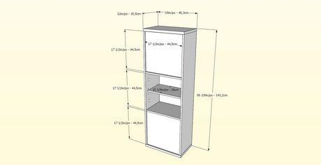 Nexera Sereni-T 2-Door Bookcase, Black And Ebony - image 5 of 5