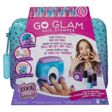 Blue zippered case containing nail stamper kit from Cool Maker GO GLAM
