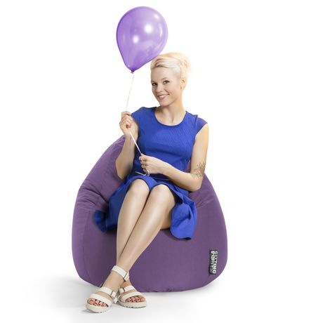 Sitting Point Easy Purple Beanbag - image 2 of 6