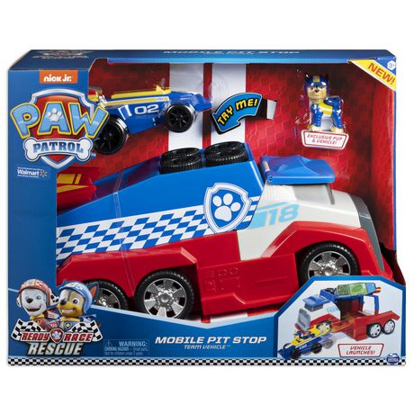 PAW Patrol, Ready, Race, Rescue, Véhicule d'équipe Mobile Pit Stop avec effets sonores, pour les enfants à partir de 3 ans - image 2 de 9