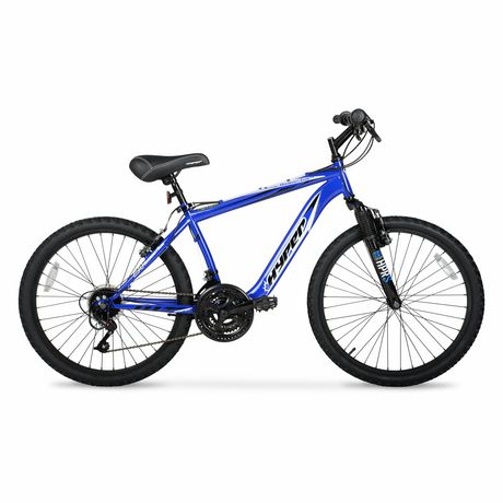 """24"""" Hyper Bicycles Boundry Trail Front Suspension Unisex Steel Frame Mountain Bike Blue - image 1 of 4"""