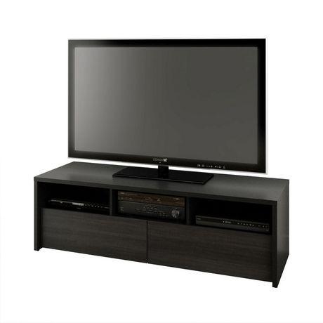 Nexera Sereni T 60 Inch Tv Stand Black And Ebony Walmart Canada