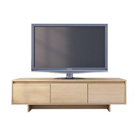 newest b99ac 47d86 Nexera Rustik 60-inch TV Stand, Natural Maple