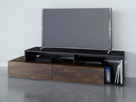Nexera Paisley 72-inch TV Stand, Truffle And Black - image 2 of 4