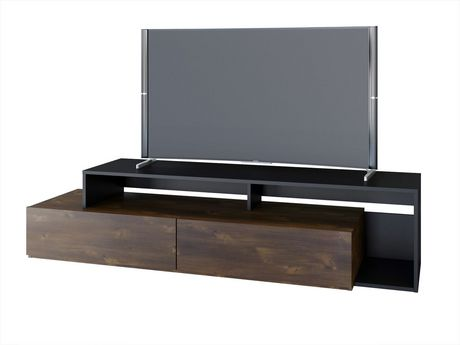 Nexera Paisley 72-inch TV Stand, Truffle And Black - image 1 of 4