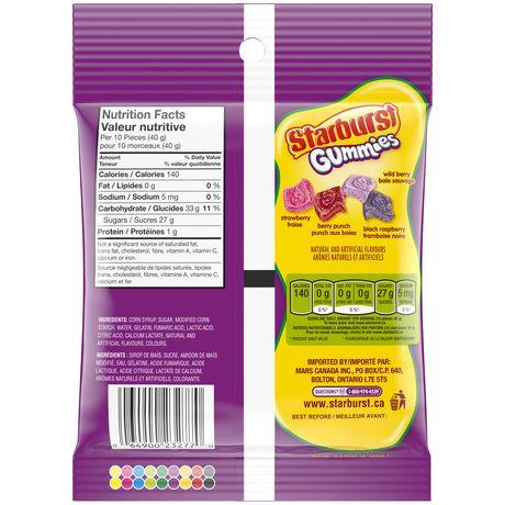 Starburst Gummies Sour baies Candy stand up pochette - image 2 de 4