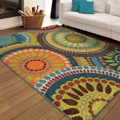 Tapis décoratif Merrifield Collage d'Orian Rugs - image 1 de 2