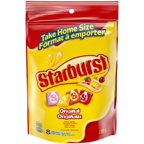 Starburst Original Fruit Chews Candy, Stand Up Pouch