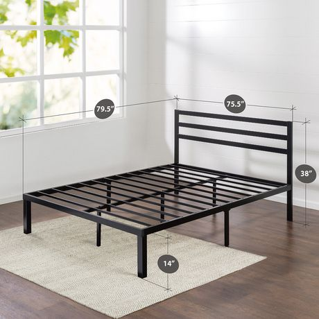 Zinus Quick Lock 14 Inch Metal Platform Bed Frame With
