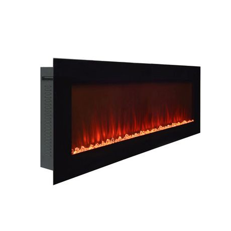 Paramount Premium 60 Quot Slim Wall Mount Electric Fireplace