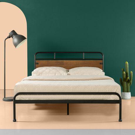 Zinus Santa Fe Metal And Wood Platform Bed Frame Walmart