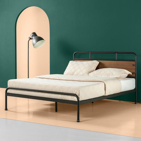 Zinus Santa Fe Metal And Wood Platform Bed Frame Walmart