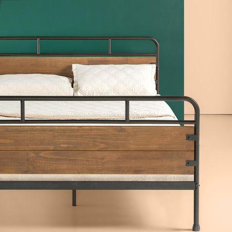 Zinus Santa Fe Metal And Wood Platform Bed Frame With