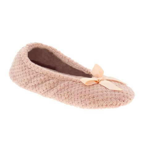 77d23b7f8 ISOspa by isotoner® Women's Poppy Textured Microterry Ballerina Slippers -  image 1 ...