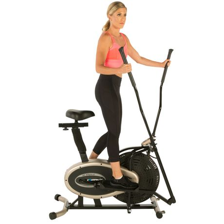 Exerpeutic Gold XL9 Aero Elliptical and Exercise Bike Dual Trainer - image 3 of 8
