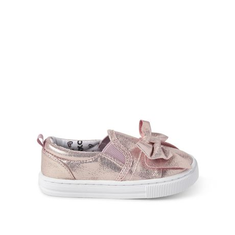 George Toddler Girls' Bow Slip On Sneakers - image 1 of 4