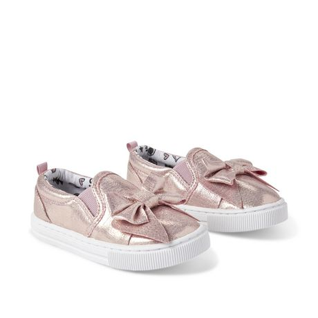 George Toddler Girls' Bow Slip On Sneakers - image 2 of 4
