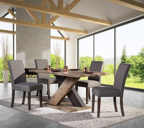 Topline Home Furnishings 5pc Rustic Style Dining Set - image 1 of 4