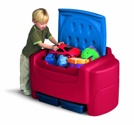Little Tikes Blue Amp Red Toy Chest Walmart Canada