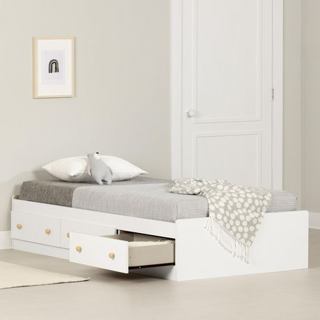South Shore Summertime Collection Twin Size Natural Maple And Pure White Storage Bed | Walmart Canada  sc 1 st  Walmart Canada & South Shore Summertime Collection Twin Size Natural Maple And Pure ...