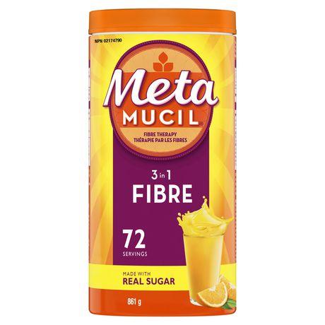 Metamucil 3 in 1 MultiHealth Fibre! Fiber Supplement Powder - image 1 of 7