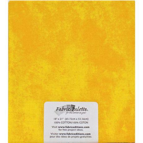 Tissu pré coupé Fat Quarter de Fabric Creations à imprimé de texture jaune clair - image 1 de 1