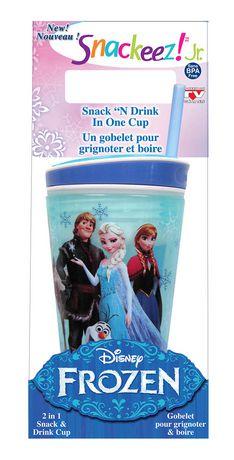 Snackeez! Goblet 2-en-1 pour grignoter et boire Jr. Disney Frozen - bleu - image 1 de 1