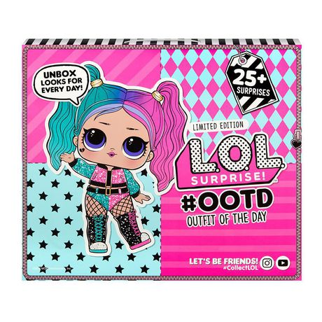 L.O.L. Surprise! #Ootd Outfit Of The Day With Limited Edition Doll And 25+ Surprises Multicolour