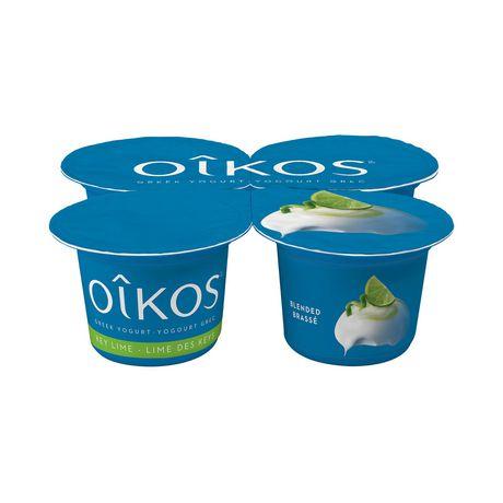OIKOS Greek Yogurt, Key Lime Flavour, 2% M.F., 100g (Pack of 4) - image 1 of 5