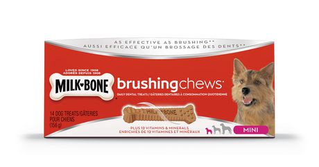 Milk-Bone* Brushing Chews Daily Dental Treats Mini Dog