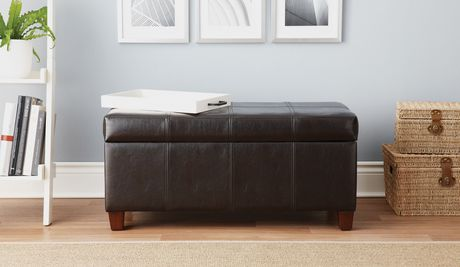 Home Trends Storage Bench Brown Walmart Canada