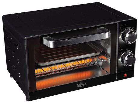 Total Chef 4-Slice Toaster Oven with Timer and Temperature Control (1,000 Watts) - image 1 of 5