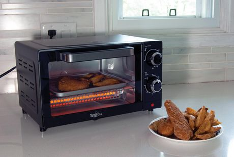 Total Chef 4-Slice Toaster Oven with Timer and Temperature Control (1,000 Watts) - image 5 of 5