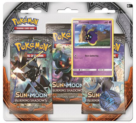 Pokemon Sun & Moon Burning Shadows 3 Pack - Cosmog - English Only - image 1 of 1
