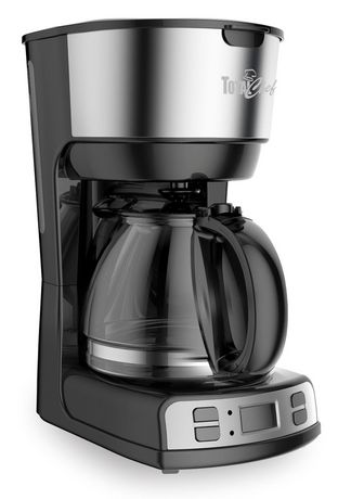 Total Chef 12-Cup Programmable Drip Coffee Maker with Glass Carafe and LCD Display - image 1 of 4