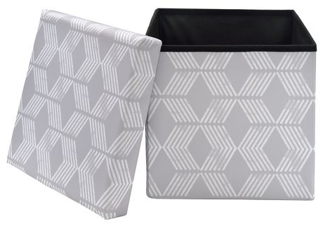 Fhe Group Red Label Foldable Storage Cube Grey Chevron