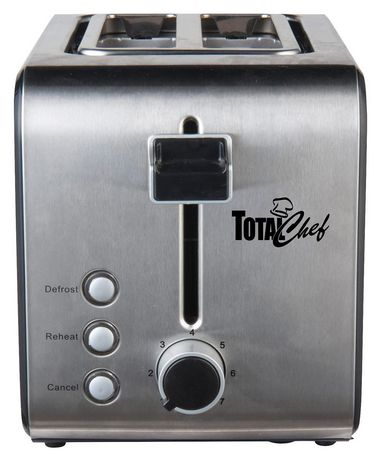 Total Chef 2-Slice Stainless Steel Toaster with Adjustable Browning Controls - image 1 of 4