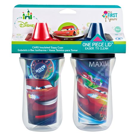 Disney Cars Insulated 9 Oz. Sippy Cup 2 Pk - image 1 of 1