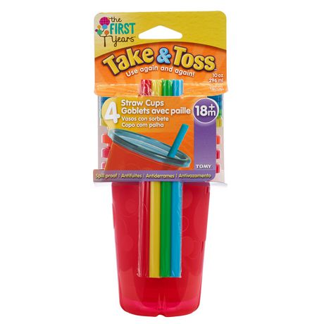 The First Years Take & Toss 10 Oz Straw Sippers - 5 Pack - image 1 of 2