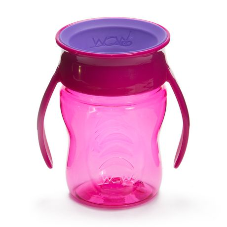 Wow Cup® Baby TRITAN® 360⁰ Spill-Free with Handles - 7oz - Pink - image 1 of 3