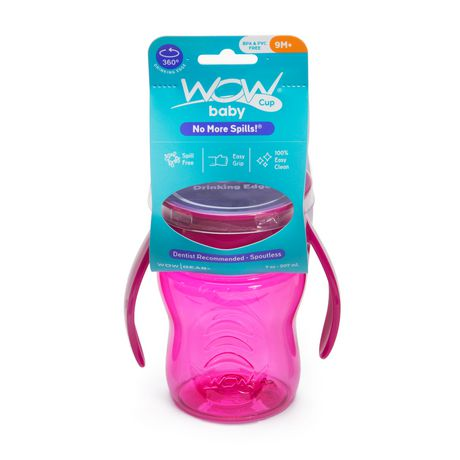 Wow Cup® Baby TRITAN® 360⁰ Spill-Free with Handles - 7oz - Pink - image 2 of 3