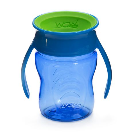 Wow Cup® Baby TRITAN® 360⁰ Spill-Free with Handles - 7oz - Blue - image 1 of 2