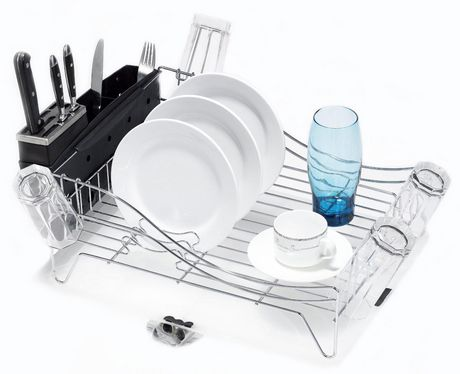 MAINSTAYS Deluxe Chrome Dish Rack - image 1 of 2