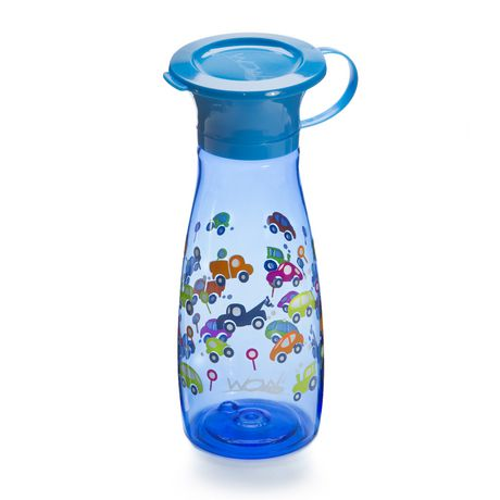 Wow Cup® Mini 360⁰ Spill-Free Cup with Freshness Lid - 12oz - Blue Cars - image 2 of 3