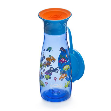 Wow Cup® Mini 360⁰ Spill-Free Cup with Freshness Lid - 12oz - Blue Cars - image 1 of 3