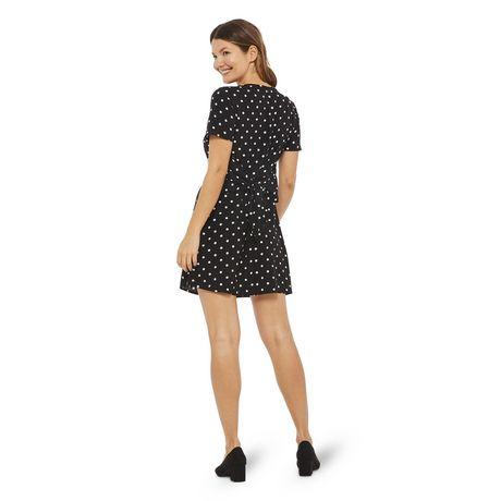 George Women's Printed Short Sleeved Tie Back Dress - image 3 of 6