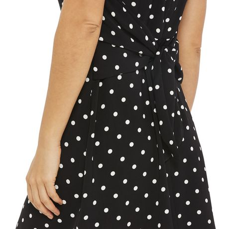 George Women's Printed Short Sleeved Tie Back Dress - image 4 of 6