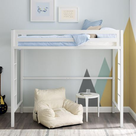 Manor Park Modern Twin Metal Loft Bed Multiple Finishes