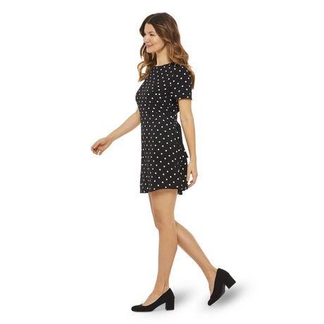 George Women's Printed Short Sleeved Tie Back Dress - image 2 of 6