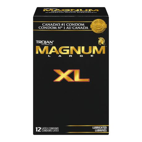 trojan174 magnum174 xl 12 latex condoms walmartca